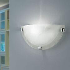 Salome Lampada da parete cromo Vetro alabastro Eglo 7188