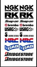 HONDA racing CBR sticker set adesivi aufkleber technical sponsors sbk motogp hrc