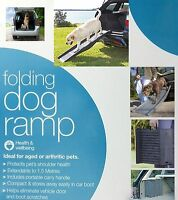 Pet Dog Ramp Folding Portable Compact Foldable Carry Fold Steps for Car Home New