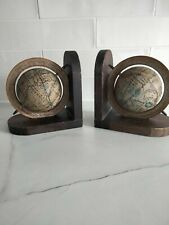 More details for vintage globe bookends made in hong kong