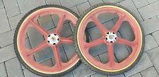 old school VINTAGE SKYWAY tuff wheel 20  INCH  wheels METAL FLANGES REAL OLD