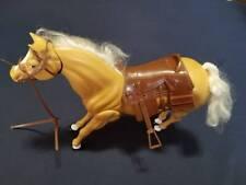 Vintage 1983 M.I.I. Barbie Light Brown Tan Jointed Articulated Horse w/ Saddle