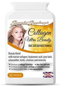 Marine Collagen Ultra Beauty 60 Caps 400mg, joints skin, hair & nails