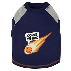 COMET ME BRO Dog Shirt - M or XL - GLOW GALAXY- Outer Space - Top Paw - NWT