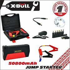 X-BULL Portable Emergency Jump Starter 50800mAh Power Bank Car Charger 12V 600A