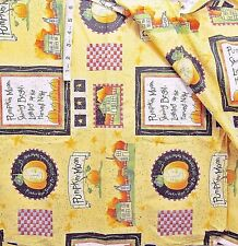 5+ yd Halloween Pumpkins,Stars Print in Squares Cotton Fabric,Crafts