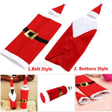 Christmas Wine Bottle Holder Candy Bag Cover Stocking Xmas Santa Claus Kid Gift