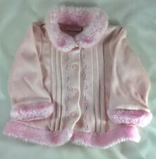 First Impressions Pink Baby Girls Jacket With Pink Flowers 6-9 Months