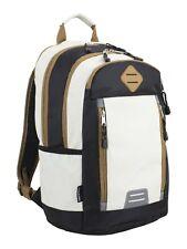 Eastport Deluxe Sport Backpack White/Black/Brown Design