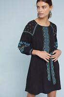 NWT Anthropologie Antik Batik Embroidered Koti Dress Size XS Petite