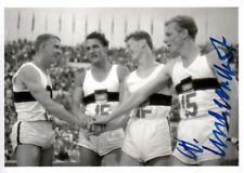 Walter Mahlendorf (Ger) 1.os Rome 1960 4x100m saison original signé/signed!!!