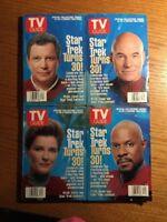 Set of 4 Star Trek Turns 30 The Four Captains of Star Trek 1996 TV Guides