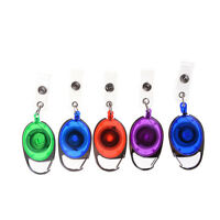 Elliptic Recoil ID Badge Lanyard Retractable Reel Tag Key Holder Belt Clip QN