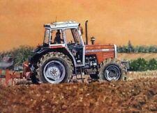 Massey Ferguson 390 Tractor Artists Painting BROCHURE/POSTER ADVERT A3