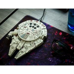 Star Wars Millennium Falcon Wireless Phone Charge Pad For Apple Samsung New Mint