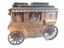 VINTAGE Banthrico Coin Bank Vintage Popcorn Concession Cart Wagon 1974