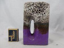Beautiful glazed 70´s Fat Lava Ü - Keramik pottery chimney vase 1443 / 14