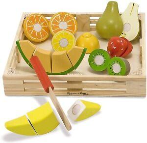 Melissa & Doug Cutting Fruit Set - Wooden Play Food Kitchen Accessory- 4021 NEW