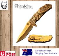 Phantom Collection Gold Samurai Folding Knife