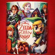 THE LEGEND OF ZELDA 25th ANNIVERSARY - Coffee MUG - CUP - SNES NES N64 - Ocarina