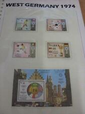 circa 1974 World Cup West Germany,  5 Sharjah Stamps, Taken From the World Cup C