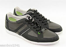 HUGO BOSS GREEN LABEL ELDORADO COATED LEATHER SHOES SNEAKERS NEW SZ 10 43 EU