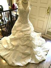 DEMETRIOS Bridal gown Wedding Dress Halter Corset taffeta  IVORY 12 NWOT