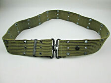 Vintage US Military Green Utility Belt Older Twist Latch Style