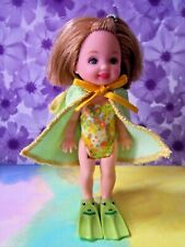 Kelly Doll Clothes *Dressed Kelly Doll with Frog Hoodie Towel, Swimsuit & Fins*