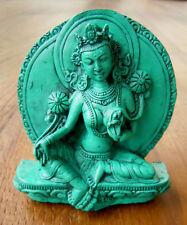 Wunderschöne kleine Statue GRÜNE Tara TÜRKIS Nepal für den Hausaltar