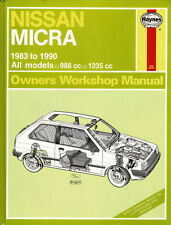 HAYNES MANUAL (931) NISSAN MICRA ~ All Models 988 & 1235cc 1983-1990  *FREE P&P*