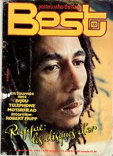 BEST n°132 # 07/1979 # BOB MARLEY / VANGELIS / MOTORHEAD / TELEPHONE / BIJOU