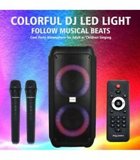 Sing Master English Edition Dual Wireless Microphones Karaoke System Machine 13000+ - Black (SM500)