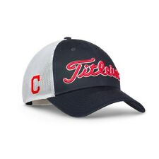 New Titleist Golf MLB Twill Mesh Hat Adj. Cleveland Indians TH7ACMLB-CLE