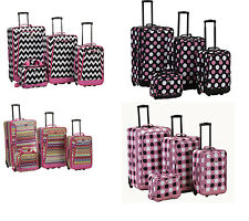 4 Piece Luggage Set Polyester - Zebra New