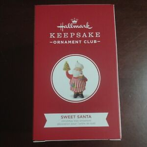 "Hallmark Ornament 2018 ""Sweet Santa"" Member Keepsake Ornament Club NEW Christmas"