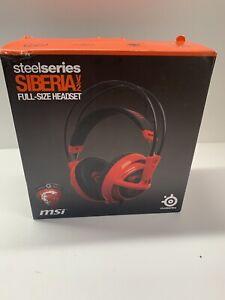 SteelSeries Siberia V2 Full-Size Red Headband Headset for Multi-Player Gaming