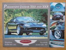 JAGUAR XK8 & XKR Paramount Performance 1999 UK Mkt leaflet brochure - Chasseur