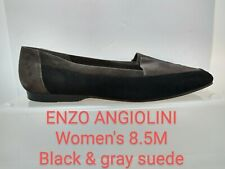 ENZO ANGIOLINI 8.5M Black & gray suede LIBERTY  Women's Flats, good condition
