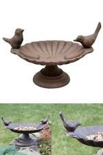 Bird Bath Cast Oval Iron Garden Decor For Seed Water Decorative Birdbath Feeder