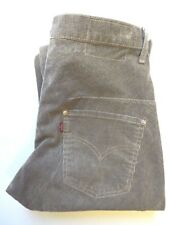 LEVI'S TYPE 1 TWISTED ENGINEERED CORDUROY JEANS W29 L32 LIGHT GREY LEVJ019 #