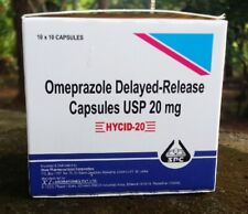 Omeprazole 20mg 100 Capsules OTC Acid Re flux Heartburn Reducer Fromaula 04/2022