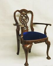 Mahogany Miniature Chippendale Chair, Apprentice Piece Size.