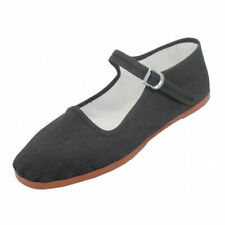 New Womens Cotton Mary Jane Shoes Flat Slip On Ballet Sandals Colors, Sizes 5-11
