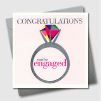 Greetings Cards - Engagement - Luxury Embossed Wedding & Engaged Greeting Card