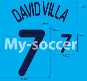 SPAIN Away EURO 2008 FOOTBALL SOCCER NAME NUMBER PRINT