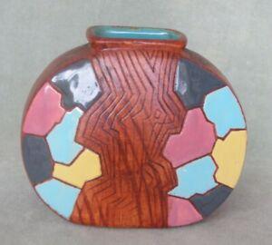 "Vintage 60's Mid-Century Modern KERAMOS vase. Abstract ""mosaic"". Signed, Israel"