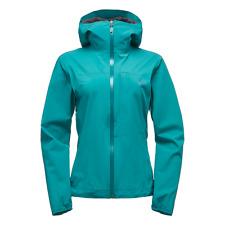 Black Diamond M Stormline Stretch Rain Shell Womens Jacket, Large, Aegean Teal