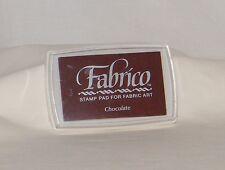 New Sealed TSUKINEKO Fabrico . Water Base Stamp Ink Pad . Fabric Art . Chocolate