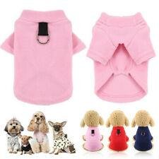 Pet Dog Puppy Fleece Vest Coat Traction Buckle Collar Winter Warm Apparel XS-2XL